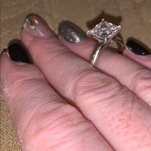 Diamonique all clad 4 carat ring